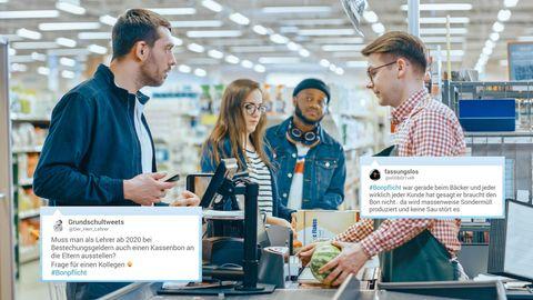 Viele Twitter-Nutzer regen sich über die neue Bonpflicht auf