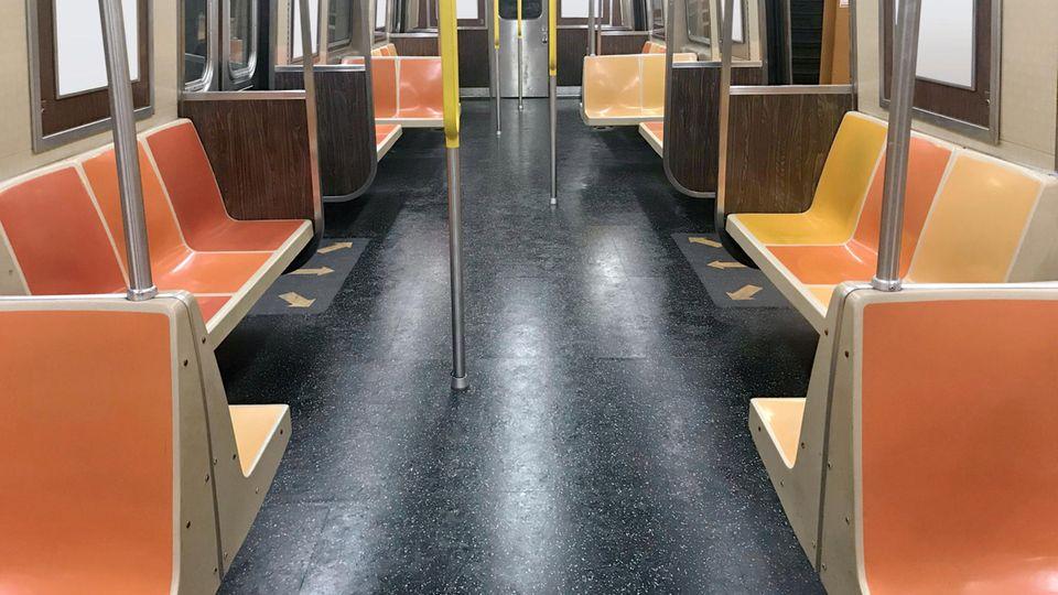 Leere U-Bahn in New York