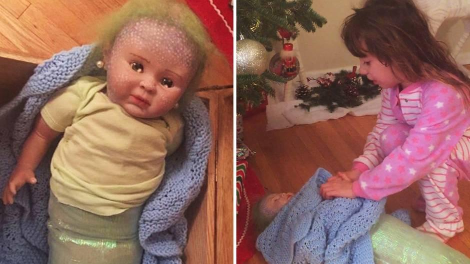 Diese Puppe ist ein Weihnachtsgeschenk – und dient als Drogenversteck.
