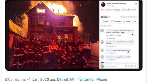 Post der Feuerwehr in Detroit