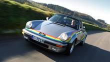 Der Regenbogen Porsche spielte auch im Film Car Napping eine Hauptrolle