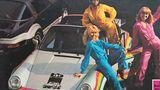 Die Regenbogen-Porsches wurden ansprechend in Szene gesetzt