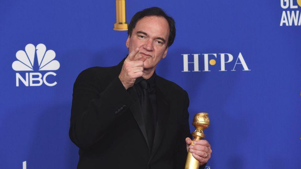 Quentin Tarantinobei der Verleihung der 77. Golden Globe Awards