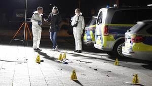 Polizei am Tatort in Gelsenkirchen