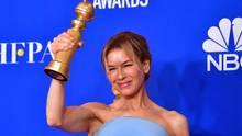 Renée Zellweger mit ihrem Golden Globe