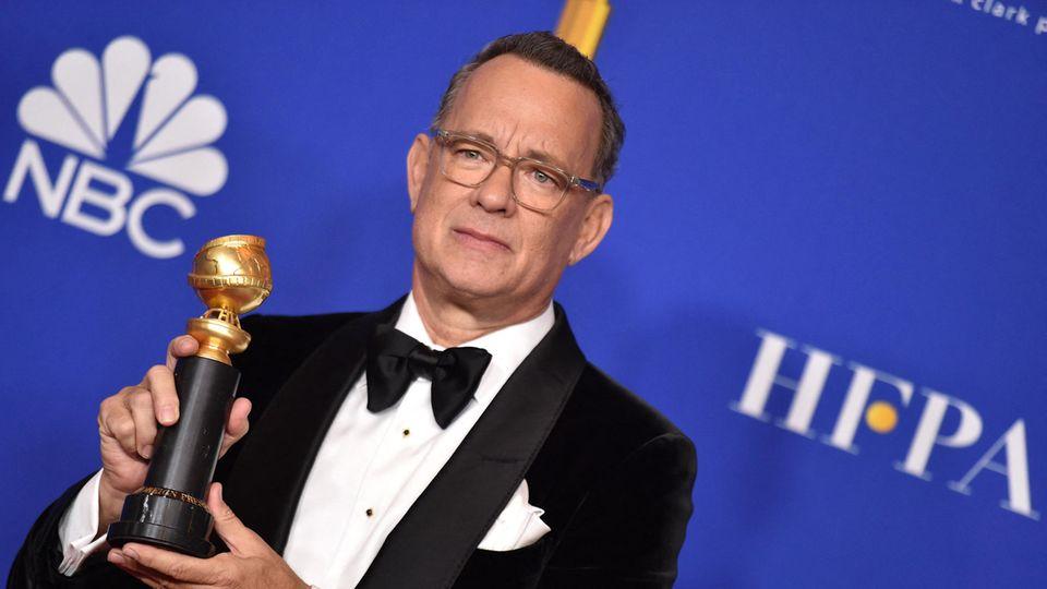 Tom Hanks bekam bei den Golden Globes den Preis für sein Lebenswerk