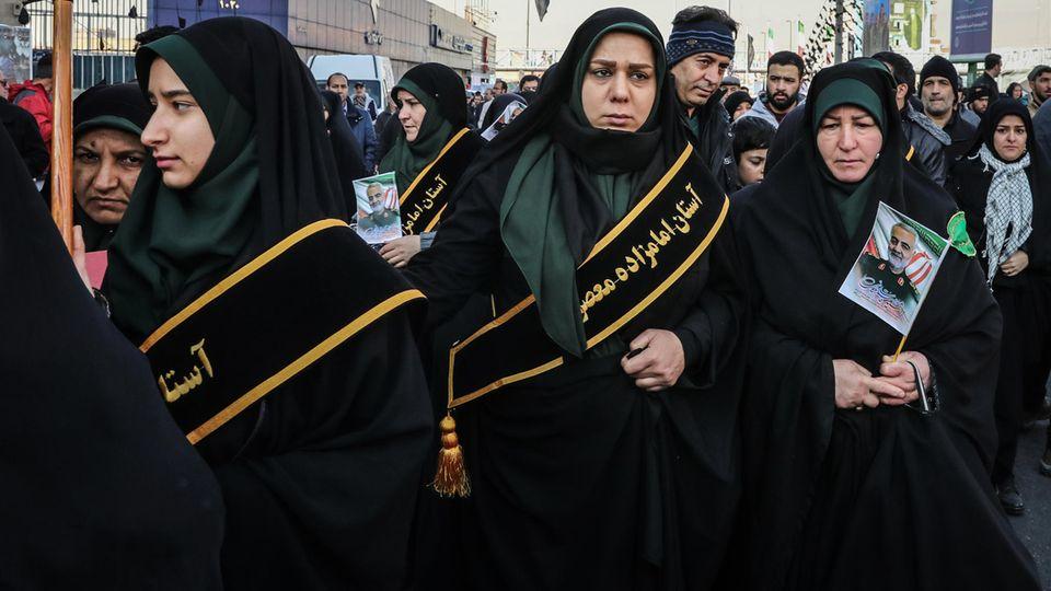 Iran: Trauerfeier für Soleimani