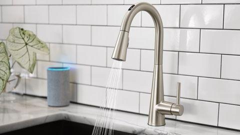 Willkommen im Jahr 2020: Selbst der Wasserhahn lässt sich nun mit der Stimme steuern.