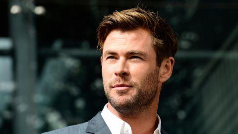 Chris Hemsworth, australischer Schauspieler, nimmt an einer Pressekonferenz teil