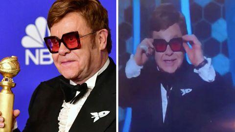 Elton John überrascht die Zuschauer bei den Golden Globes