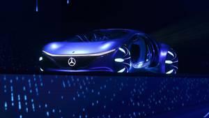 01.2020, USA, Las Vegas: Ola Källenius, Vorstandsvorsitzender Auf der Technik-Messe CES rollt Konzeptfahrzeug Vision AVTR auf die Bühne.