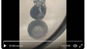 Verlorenes Rad eines Flugzeugs