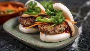 Bei der CES bekamen die Besucher unter anderem asiatische Bao-Sandwiches mit dem veganen Schweinefleisch serviert