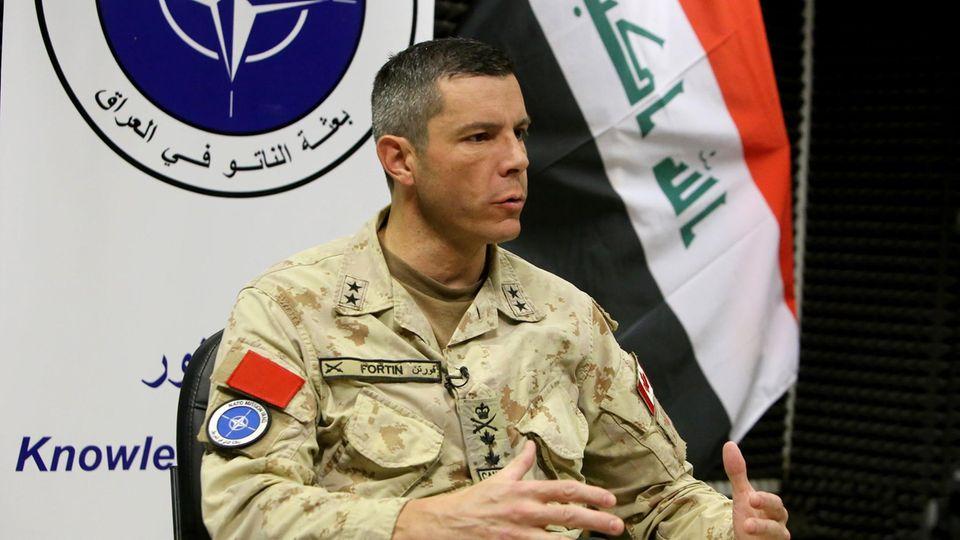 Der Kanadier Dany Fortin ist der Kommandeur der Nato-Mission im Irak