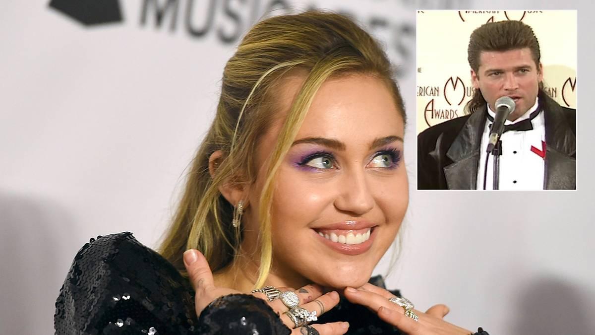 Neue Frisur: Miley Cyrus trägt jetzt Vokuhila – wie einst ihr Vater