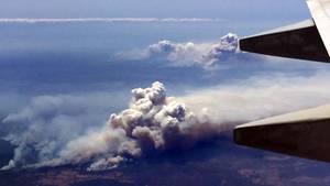 Luftaufnahme der Brände im BundesstaatNew South Wales