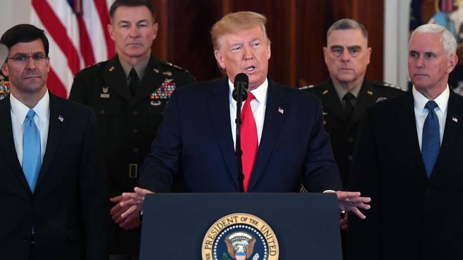 Donald Trump äußert sich zu den iranischen Raketenangriffen auf US-Stützpunkte im Irak