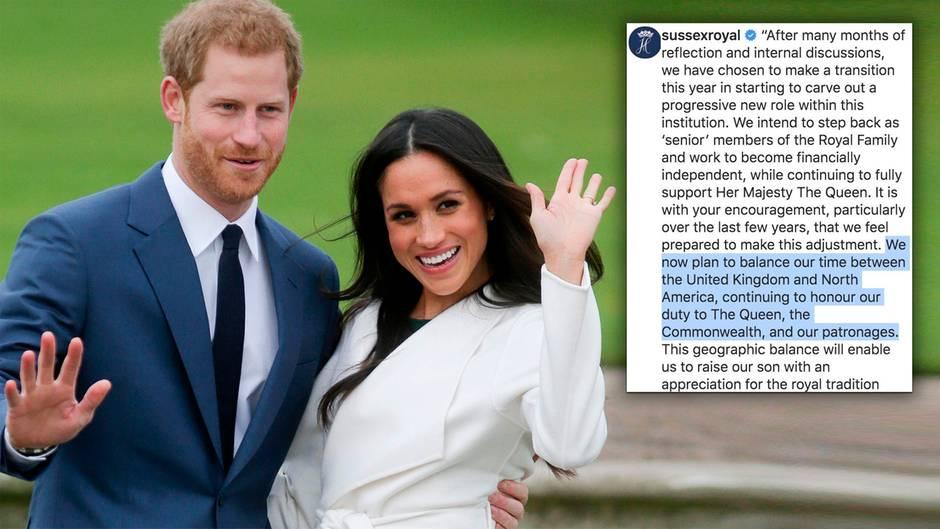 Schock bei den Royals: Harry und Meghan ziehen sich zurück