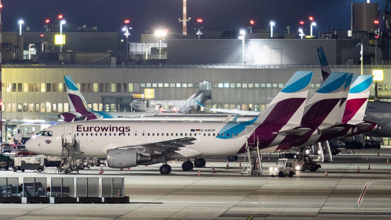 Jets von Eurowings in Düsseldorf