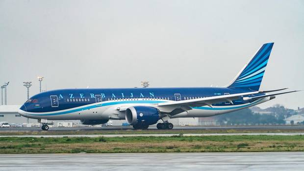 Eine Boeing 787 von Azerbaijan Airlines