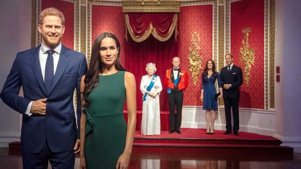 Wachsfiguren von Prinz Harry und Meghan
