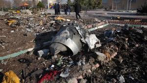 Iran: Die Absturzstelle der ukrainischen MaschinePassagiermaschine bei Teheran