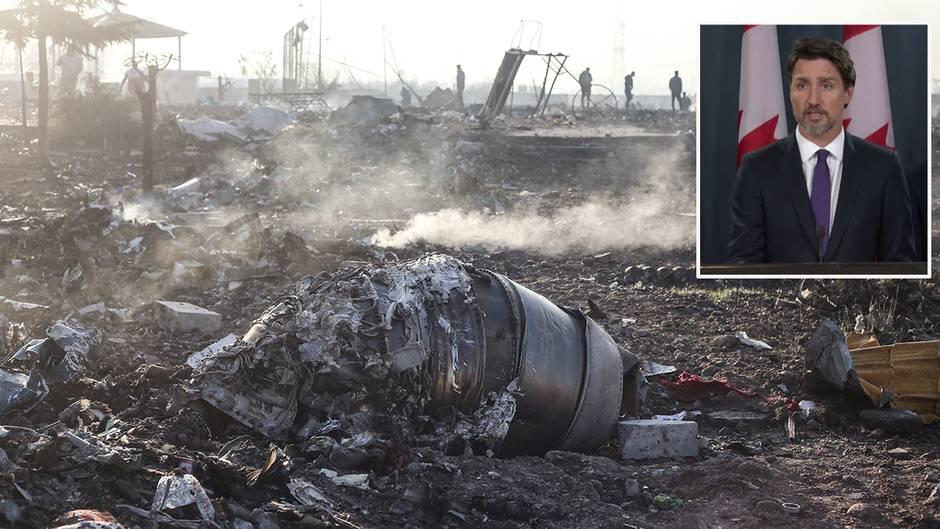 Kanadischer Premier :  Trudeau geht von einem versehentlichen Abschuss der ukrainischen Maschine im Iran aus