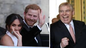 Herzogin Meghan, Prinz Harry und Prinz Andrew