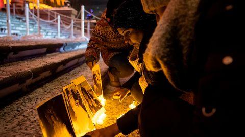 Trauernde in der Stadt Edmonton, wo 30 Opfer des Flugzeugabsturzes von Teheran lebten