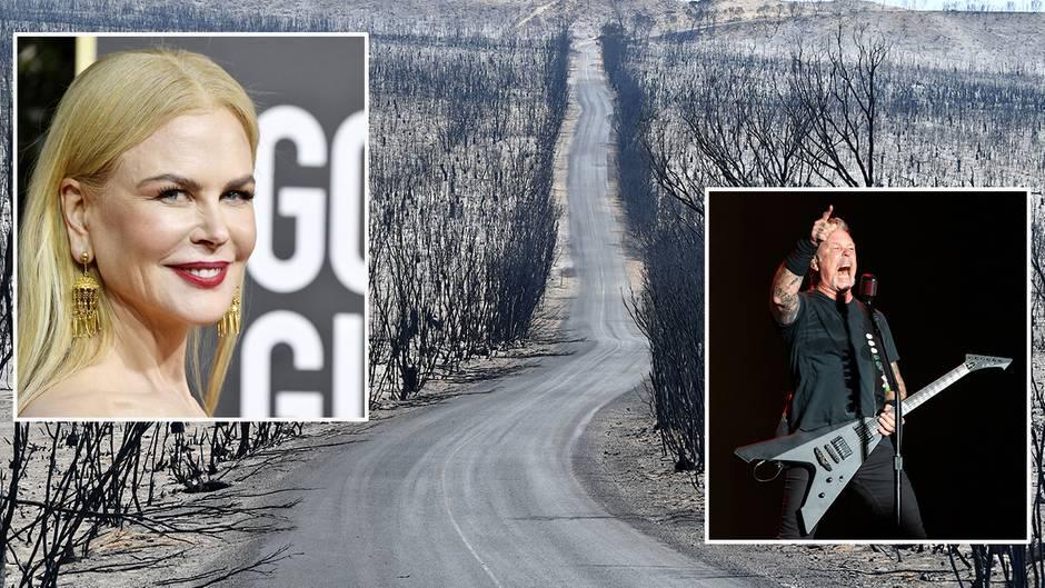 """Tragische Buschbrände: """"Es bricht uns das Herz"""" – Kidman, Metallica und Co. spenden Millionensummen für Australien"""