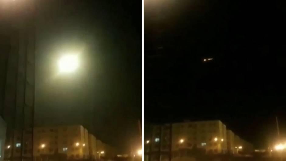 Neue Aufnahmen zeigen offenbar den Abschuss der ukrainischen Passagiermaschine nahe Teheran.