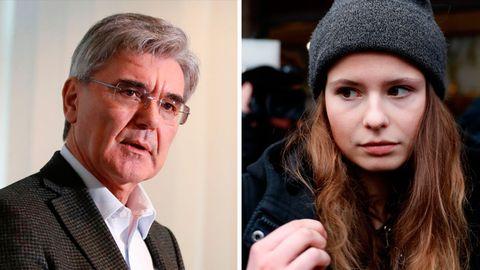 Siemens-Chef Joe Kaeser und Friday-for-Future Aktivistin Luisa Neubauer nach ihrem Treffen in Berlin