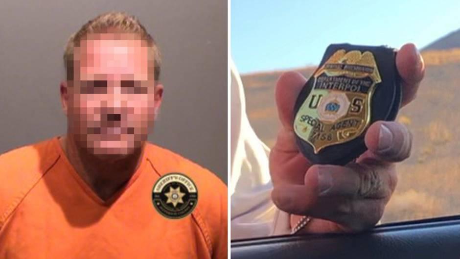 Mann in den USA gibt sich als Polizist aus.