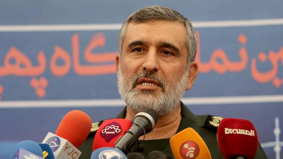 General Amir Ali Hajizadeh in Teheran