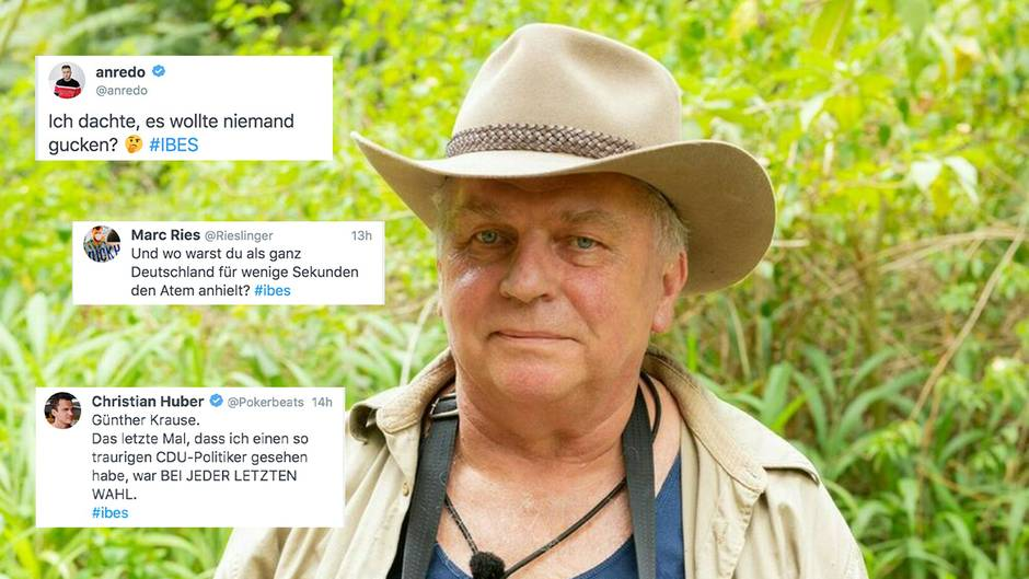 #IBES Twitter-Reaktionen: Günther Krause verlässt das Dschungelcamp – Zuschauer wünschen sich Amthor als Nachfolger
