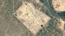 Der Luftwaffenstützpunkt bei Balad im Irak aus der Luft aufgenommen