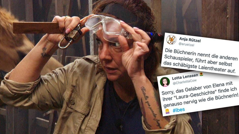 Daniela Büchner muss auch am dritten Tag im Dschungelcamp in die Prüfung.