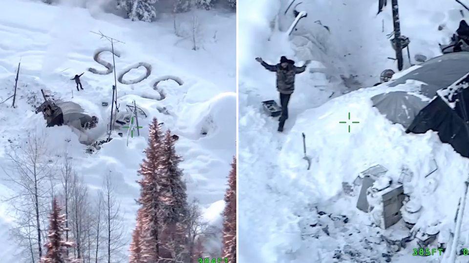 Tyson Steele überlebt 23 Tagen in Alaska, nachdem sein Haus niederbrennt.