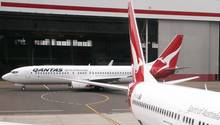 Zwei Flugzeuge der australischen Fluggesellschaft Qantas