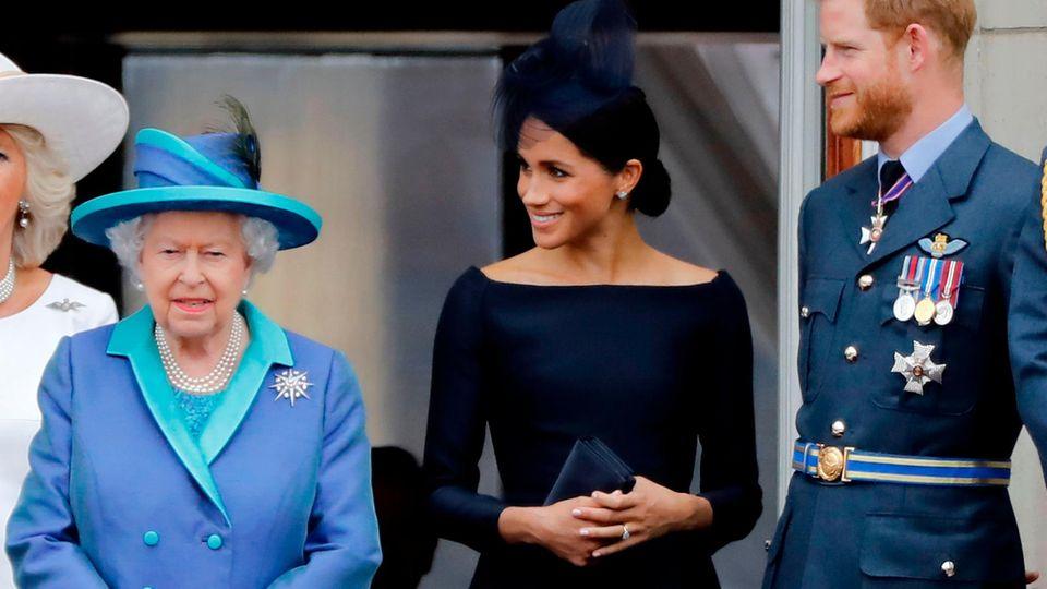 Queen Elizabeth II., Herzogin Meghan und Prinz Harry