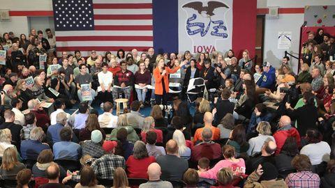 Iowa Wahlkampf Elizabeth Warren