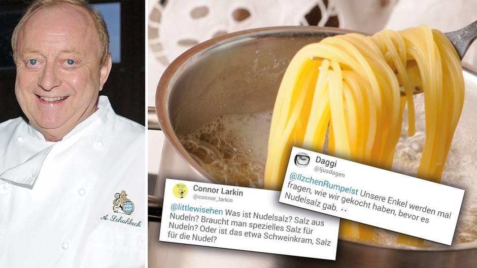 """Alfons Schuhbeck vertreibt jetzt auch """"Nudelsalz"""" – das belustigt die Netzgemeinde."""
