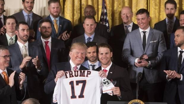 Major League Baseball: Spieler und Staff der Houston Astros 2018 zu Gast im Weißen Haus
