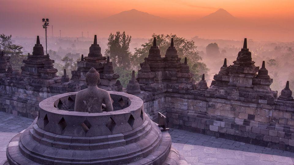 Borobudur, Java, Indonesien