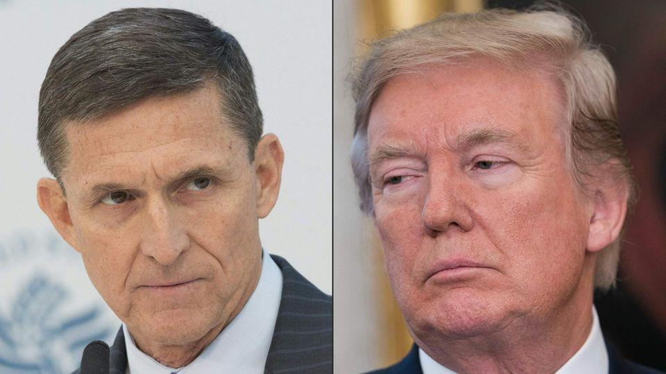 Michael Flynn (l.) und Donald Trump