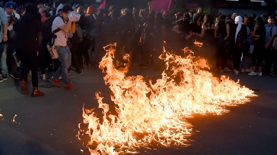 Demonstration in Mexiko