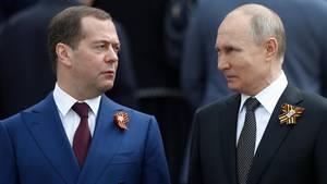 Russlands Ministerpräsident Dmitri Medwedew hatden Rücktritt der gesamten Regierung angekündigt