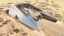 Das CyberHouse erinnert an eingestrandetes Raumschiff.