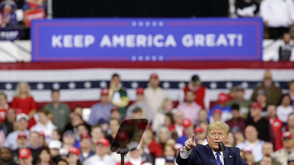 US-Wahl 2020 Trump-Kundgebung