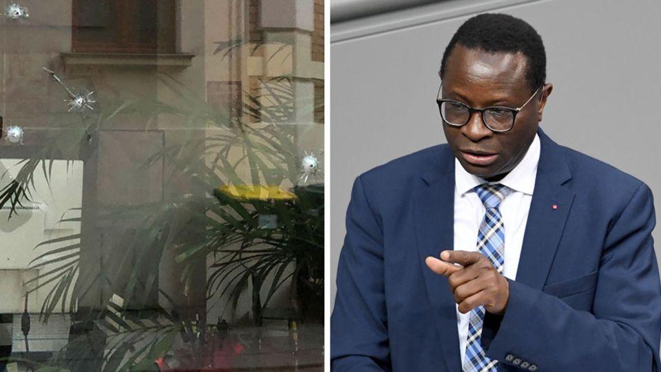 Am Bürgerbüro des SPD-Bundestagsabgeordneten Karamba Diaby in Halle (Saale) wurden Einschusslöcher entdeckt